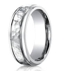mens wedding band designers designer cobalt hammered wedding ring polished