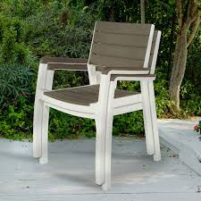 Patio Wooden Chairs Keter Harmony Indoor Outdoor Stackable Patio