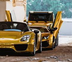 gold cars wallpaper porsche lamborghini mercedes benz 918 aventador 6x6 gold