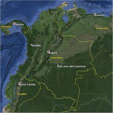 san jose ecuador map colombia country map and data collection quibdo and san