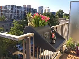 over balcony planters viva self watering balcony railing planter