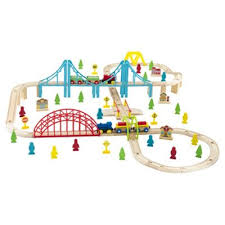 carousel train table set buy carousel 100 piece wooden train set from our carousel toy