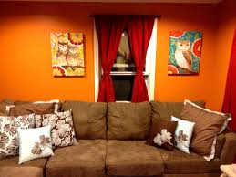 accessories pleasing pretty burnt orange living room brown and