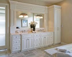 Bathroom Cabinets Built In Bathroom Vanity With Linen Cabinet Built In Bathroom Vanity With