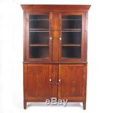 rustic glass kitchen cabinets antique wall cupboard primitive cabinet hutch kitchen
