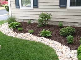 Landscape Flower Bed Ideas by I Like This Curvy Rock Border Along The Grass Edge Landscaping