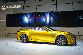 lexus convertible sports car lexus lf c2 concept hits l a likely previews rc convertible