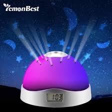 night light alarm clock night light projector l alarm clock trendyhub2 com
