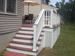 decorations delightful white exterior staircase design with