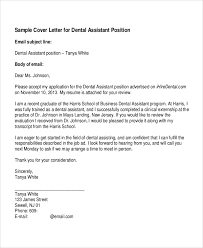 gallery of dental assistant cover letter sample pdf dentist