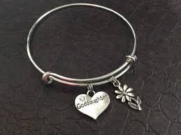 goddaughter charm god charm silver bangle goddaughter silver adjustable