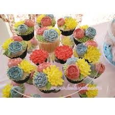 Chic Flower Keiku Cake Shabby Chic Flower Cupcakes Tower