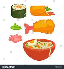 cuisine diet sushi rolls japanese cuisine food snacks เวกเตอร สต อก 655773136