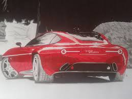 alfa romeo disco volante concept drawing by revvnar wallander on
