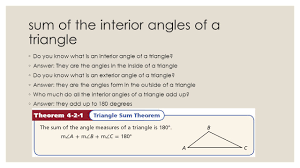 4 3 angle relationship in triangles ppt video online download