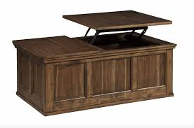 Top Coffee Table Signature Design Flynnter Lift Top Cocktail Table Medium Brown