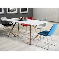 Dining Room Sets Free Shipping by Aeon Furniture Ae000409t Lene Dining Table In White Walnut