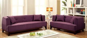 Purple Leather Sofa Sets Amazon Com Furniture Of America Elsa Neo Retro Love Seat Purple