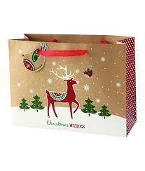 large christmas gift bags kraft large christmas gift bag cancer research uk online shop