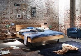 Schlafzimmer Bett Auf Raten Bett Eiche Massiv Geölt Mit Baumkante Massivholzbetten Loft