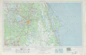 Florida Map Orlando by Orlando Topographic Maps Fl Usgs Topo Quad 28080a1 At 1 250 000