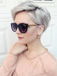 pictures of womens short dark hair with grey streaks best 25 short gray hair ideas on pinterest grey pixie hair