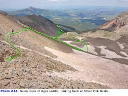 Colorado 14er Map by 14ers Com U2022 Route Description Rock Of Ages Approach