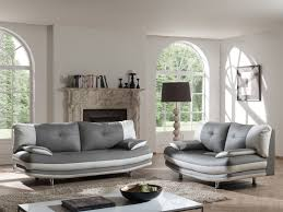 2 canapes dans un salon salon fixe design 2 3 places en pu coloris gris blanc felicia