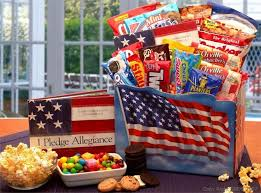 snack gift baskets 14 pc america the beautiful snack gift filled with american classics