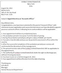 Confirmation Of Appointment Letter Sample Business Communication Write An Appointment Letter To A Candidate