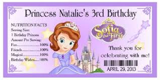 sofia the party supplies 20 princess sofia the birthday party favors water bottle