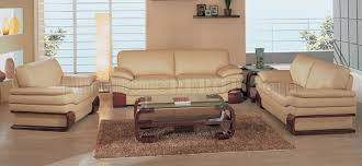 Beige Leather Living Room Set Beige Leather Living Room Set With Wooden Accents