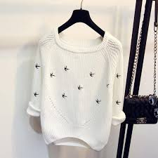 white sweater bird white sweater hippie bliss