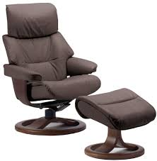 fjords grip ergonomic leather recliner chair ottoman