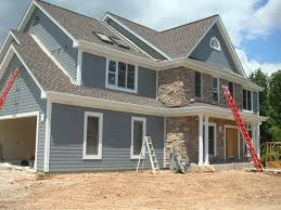 exterior lovely image of home exterior decoration using dark