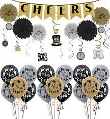 New Years Decoration Kits by Black Gold U0026 Silver New Year U0027s Eve Decorations Party City