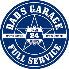 dads garage ford inspired blue floor decal floor stickers