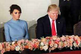 inaugural luncheon head table donald and melania trump at the inaugural luncheon abc news