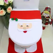 Santa Claus Rugs Santa Claus Toilet Rug U0026 Seat Cover U2013 Nowallure