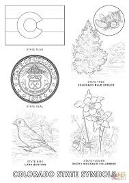 colorado state symbols coloring page free printable coloring pages
