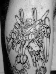 50 gundam tattoo designs for men giant robot ink ideas
