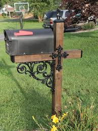 themed mailbox wrought iron cross mailbox post accessory dress up kit do you want