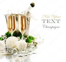 new years chagne glasses new year celebration two chagne glasses stock photo