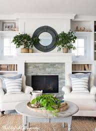 classic design flanking a fireplace with accent chairs house by