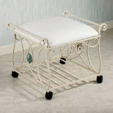 Vanity Chair For Bathroom by Sea Breeze Metal Vanity Stool
