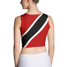 Flag For Trinidad And Tobago Trinidad And Tobago Flag Women U0027s Fitted Crop Top Properttees