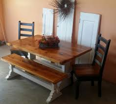 amish made reclaimed barn wood farnhouse furniture old barn star reclaimed pine barnboard trestle table and matching bench