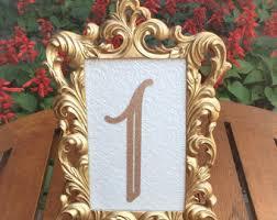 gold table number frames table number frames etsy