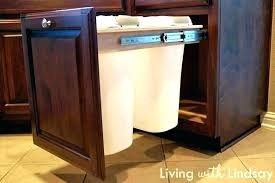 trash cans for kitchen cabinets trash can kitchen cabinet lockers top