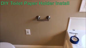 toilet paper holder diy delta toilet paper holder install in drywall diy youtube